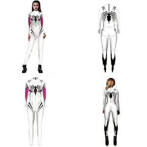 Spiderman Jumpsuits Spider-Gwen Spandex Cosplay Costume for Women & girls Gifts
