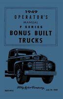 Bishko OEM Maintenance Owner's Manual Bound for Ford Truck F100-350 1949