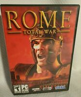 COMPLETE Rome Total War PC CDROM Software 3 disk with Insert Rated Teen