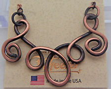 """Copper Pendant18"""" Chain Necklace Wheeler Healing Arithitis Pain CN 155 NEW"""