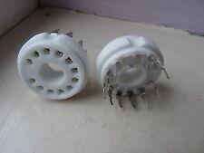 12 de cerámica pin Pcb Compactron válvula Socket Base Nueva producción 1pc