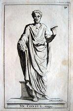 EIN KONSUL ANTIKE STATUE SIMON THOMASSIN ORIGINAL-KUPFERSTICH 1694 CONSUL