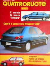 Quattroruote 449 1993 Poster Peugeot 306. Nuova Tempra. Jeep Grand Cherokee Q.9]