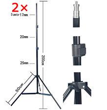 S202x2 Lightstand 2 metros 6.6 pies Soporte De Luz Continua Ajustable de Flash de estudio