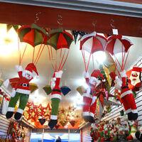 EE_ EG_ Xmas Parachute Snowman Santa Claus Ornament Christmas Tree Hanging Decor