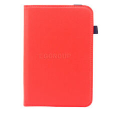 """New Universal 360 Rotating Leather Flip Stand Case Cover For 7"""" Inch Tablets+Pen"""