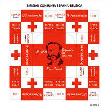 Spain 2013 - Joint issue Spain-Belgium Red Cross souvenir sheet mnh