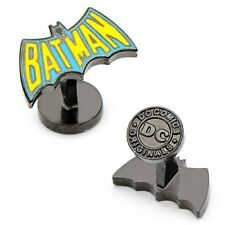 Batman Vintage Blue and Yellow Logo Cufflinks - Officially Licensed