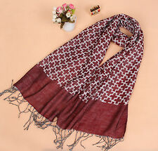 Mens Womens Warm Fashion Cross Scarves Tassel Fringe Long Scarf Shawl Wrap M67