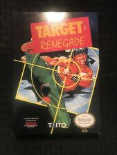 Target Renegade,1988 NES (box only) Excellent Condition