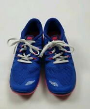 Nike free 5.0 blue and pink  girl yunior Sneakers Shoes Size 6 Y