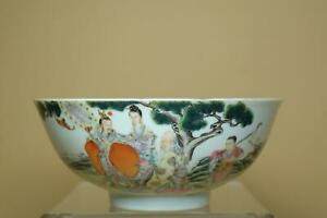 👀Fine Antique Chinese Famille-Rose Porcelain Bowl.Marked.