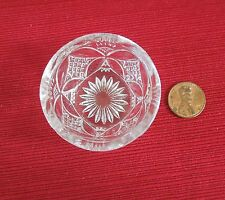 CHILD TOY BOWL PATTEE CROSS US GLASS GEORGIA # 1 BROUGHTON EAPG PRESSED ANTIQUE