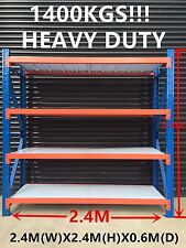 2.4Mx2.4M!! 1400KG!!!!! Garage Warehouse Steel Storage Shelving Shelves Racking