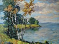 Original Earl W. North (1904-1989) Painting- Listed Ohio Artist- BREVORT LAKE