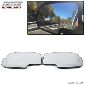 Pair Mirror Heated with Turn Signal Left & Right Side For Chevy GMC Cadillac