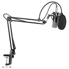 Neewer NW-700 Microphone + Mic Scissor Arm Stand + Shock Mount +Mask Shield MT@9
