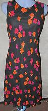 Round Neck Sleeveless Viscose Work Dresses for Women