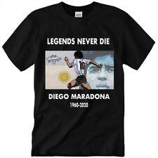 DIEGO MARADONA NAPOLI T-SHIRT Legends Never Die 1960-2020 Soccer Legend S-3XL !