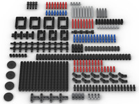 260 New Genuine Lego Technic Studless beams connectors pins axles