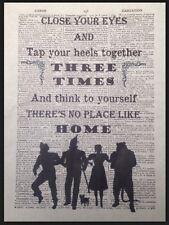 Mago Di Oz No Place Like Home Citazione Vintage Dizionario Pagina Stampa