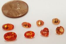 8 VINTAGE GENUINE ORANGE TOURMALINE ASSORTED OVALS, HEART & ROUND GEMSTONES S139