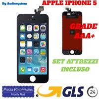 DISPLAY LCD+TOUCH SCREEN per APPLE IPHONE 5 NERO RETINA VETRO A1442 A1428 A1429