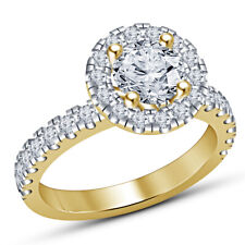 7 Solitaire With Accents Ring 1.3 Ct Vvs1 Round Diamond Size