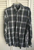 Mens Red Head Flannel Shirt XLT Green And Blue Plaid