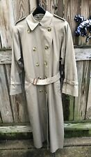 Vintage Burberrys Classic Trench Coat Women's Size 10 XX Long