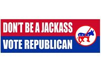 Don't Be A Donkey Vote Republican President Donald Trump 2020 Election Sticker