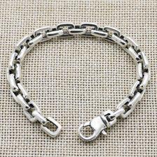 B21 Herren Damen Armband 7,5 mm eckige Ankerkette 16 - 22 cm Sterling Silber 925