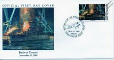 TARANTO - RM CONTE DI CAVOUR Warship FAIREY SWORDFISH Aircraft WWII Stamp FDC