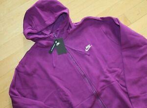 NWT Nike Men's Big & Tall Sportswear Zip Up Hoodie Sweatshirt Violet Purple 2XLT