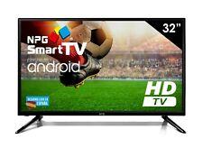 "Televisor LED 32"" HD NPG Smart TV Android TDT2 H.265 WiFi Bluetooth USB Grabador"
