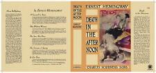 Facsimile Dust Jacket ONLY Ernest Hemingway Death in the Afternoon 1st Edition