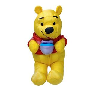 Disney Winnie the Pooh Plush Parachute Fabric Stuffed Toy Washed Clean 34cm