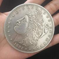 Jumbo Copper Morgan Dollar (7cm) Stage Magic Tricks Coin Magic Funny Coin Appear