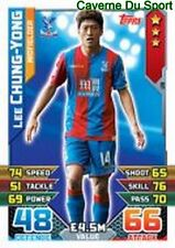 Chung YONG LEE SOUTH KOREA CRYSTAL PALACE CARDS PREMIER LEAGUE 2016 TOPPS