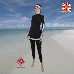 AlHamra Bahri 1-Piece Modest Burkini Swimwear Swimsuit Muslim Size 6 to 18