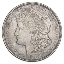 Choice AU/UNC 1921 Morgan Silver Dollar - Last Year of Issue - Great Luster *680