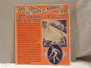 1938 100 YEARS OF BASEBALL FROM WHEATIES CEREAL