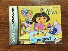 Dora the Explorer Super Spies Gameboy Advance Instruction Manual Only