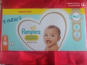 Couches PAMPERS premium protection taille 3 (6-10 kg)