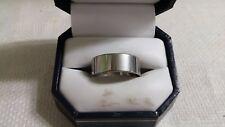 Vintage Silvertone Metal Plain Band Ring Size 12.5