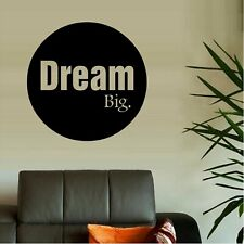 "Dream Big Vinyl Decal Home Décor 12"" x 12"""