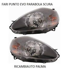 COPPIA FARI PROIETTORI FIAT PUNTO EVO DAL 2012 PARABOLA SCURA COME ORIGINALE