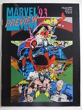 Marvel '93 Preview (March 1993) Magazine Spiderman X-Men Avengers (M839)