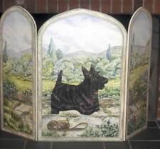 Scottie Dog 3 Panel Decorative Fireplace Screen [ID 94619]