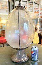 New listing Large Vtg Hanging Apothecary Jar / Bottle & Frame For Display ~ Pharmacy Antique